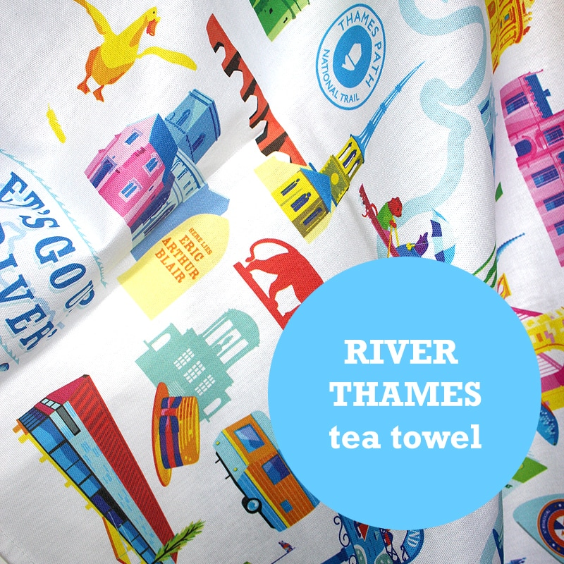 River Thames Tea towel